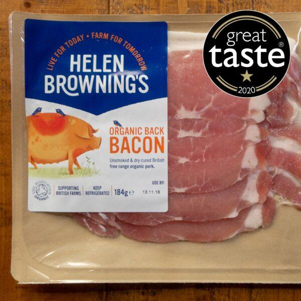 Unsmoked Organic Back Bacon