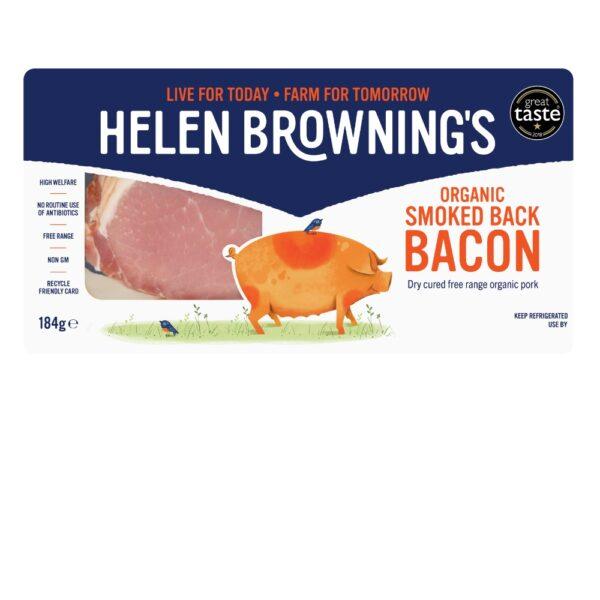 Organic smoked back bacon