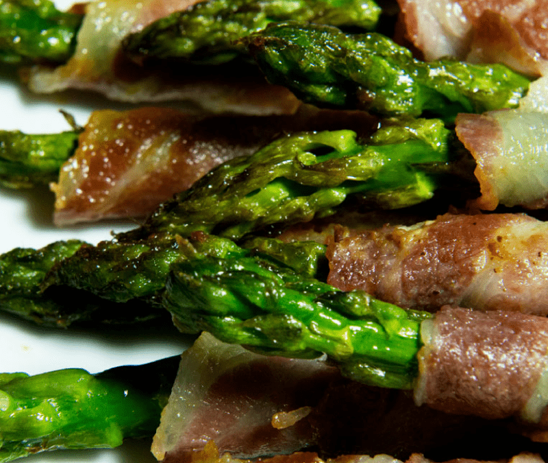 Roast Organic Asparagus & Bacon