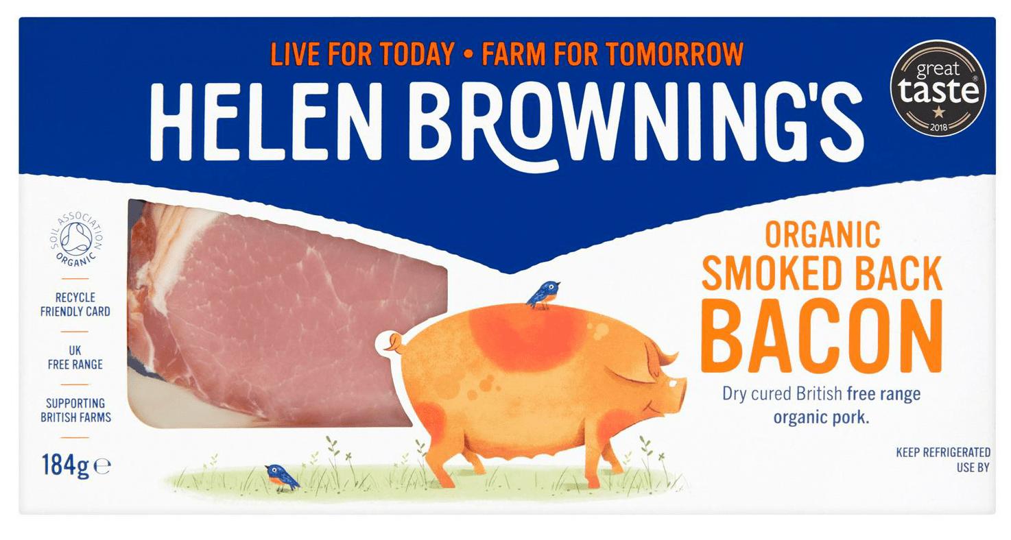 Organic smoked bacon