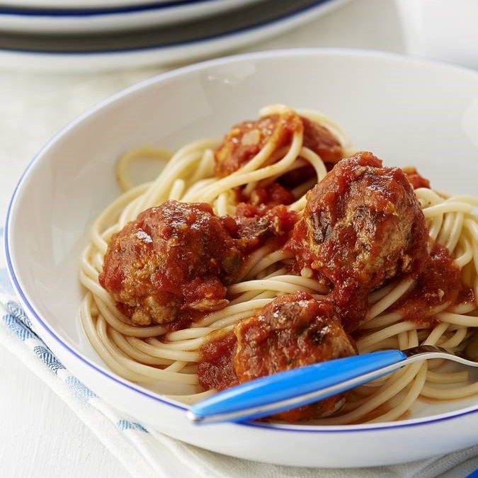 Pork Meatballs in a Rich Tomato Sauce