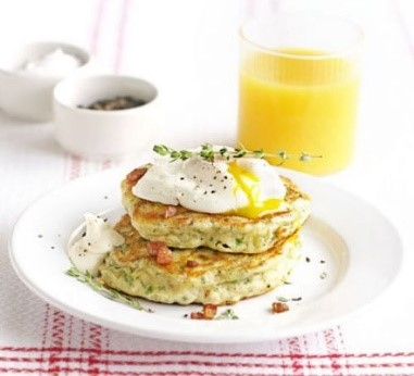 Bacon and Parsley Hotcakes
