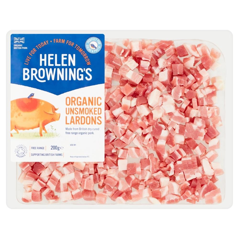 organic unsmoked pork lardons
