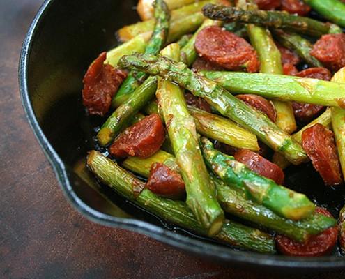 Asparagus with Chorizo