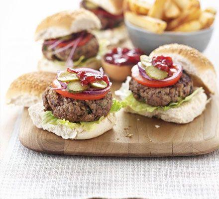 Pork Burger & Chips