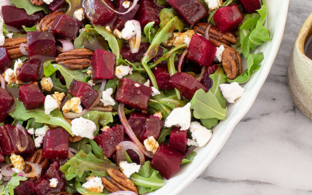 Roasted beetroot and raw honey salad